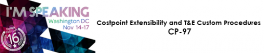 Costpoint Extensibility and T&E Custom Procedures CP-97
