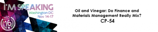 Oil and Vinegar: Do Finance and Materials Management Really Mix? CP-54