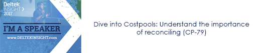 Dive into Costpools: Understand the importance of reconciling (CP-79)