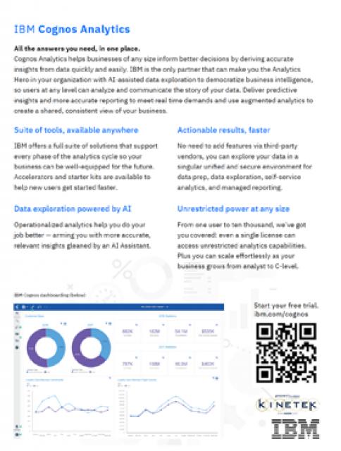 Preview of IBM Cognos Analytics